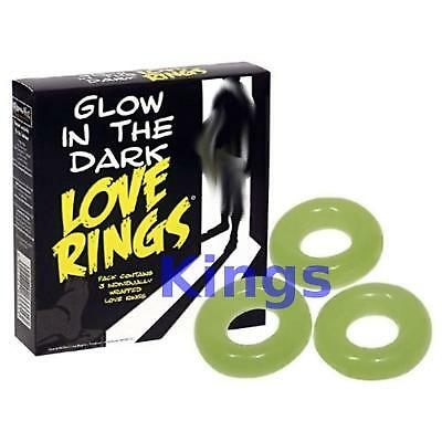 Glow In The Dark Penis LOVE RING IMPOTENCE ERECTION sex AID Enhancer Erectile