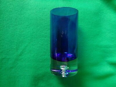 Art Glass Vase BLOCK Handcrafted Signed