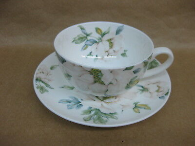 Laura Ashley Cup & Saucer ~ Pretty Floral Decoration ~ Fine Bone China