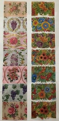 14 NEW Floral Easter Egg Wraps Sleeves Stickers