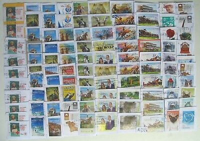 Australia Kiloware Lot 100 70c used decimal stamps, on paper. AD24