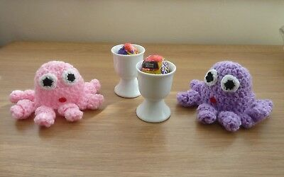 Octopus Novelty Egg Cup Cosy Hand crochet Knitting Easter