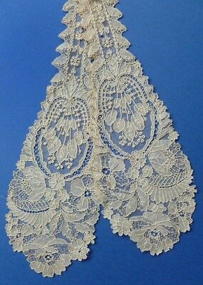 A Pair Of Victorian Brussels Point De Gaze Joined Lappets