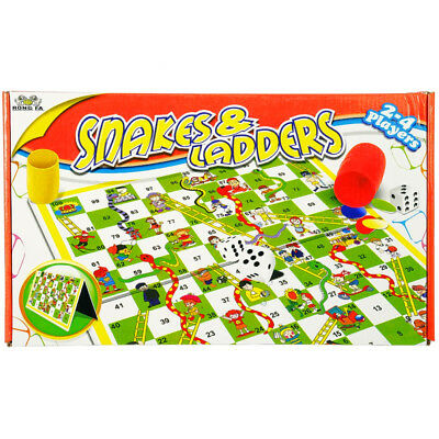 Snakes And Ladders Traditional Childrens Family Board Game Fun Classic Toy New
