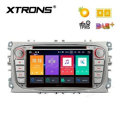 """7"""" Android 8.0 Octa-Core 32GB ROM + 4G RAM Multimedia DVD Player FORD / Silver"""