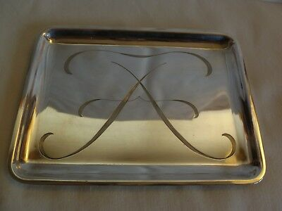 TIFFANY & Co  MAKERS STERLING SILVER  CALLING BUSINESS  CARD TRAY- 158 grams- #2