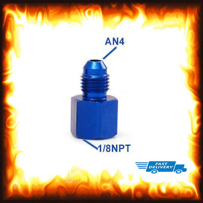 1/8 NPT Female to AN-4 AN4 Male Straight Fitting Adapter Pressure Oil Fuel Gauge