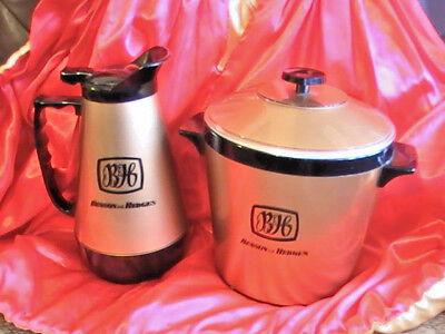 Collectible 1970'S Retro Benson & Hedges Ice Bucket And Water Jug Set