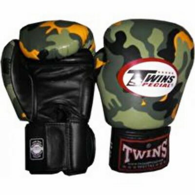 Twins Special 12oz boxing gloves Jungle camouflage Muay Thai gloves.