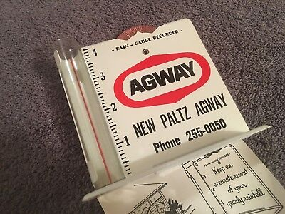 Advertising AGWAY FARM Products Oil Seeds RAIN GUAGE NEW OLD STOCK