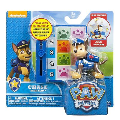 Paw Patrol - Action Pack Pup - Back Flip (Chase)