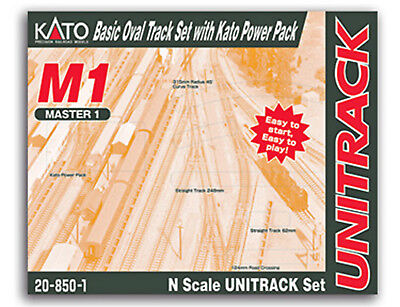 Kato N Scale M1 Basic Oval Track Set with Power Pack