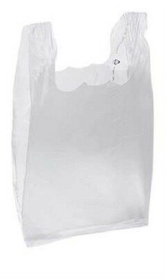 Clear Plastic Bags T-Shirt 1000 Retail Supermarket Grocery Handles 11 ½ x 6 x 21