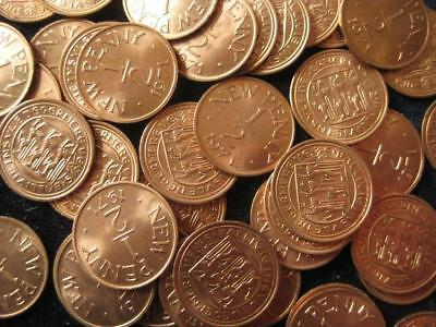 Guernsey 1971 1/2 Penny BU lot of 25 BU coins