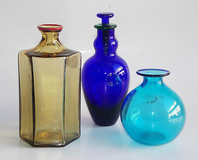 Venini, A Group Of Three Miniature Vases With Different Colors - '89 - '93 - '97