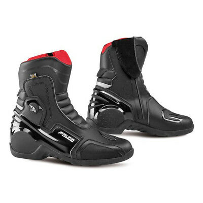 Falco Axis 2.1 Black Mens Motorbike Motorcycle Waterproof Short Boots