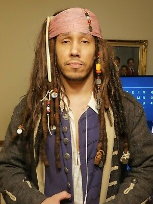 Jack Sparrow wig highly accurate human hair