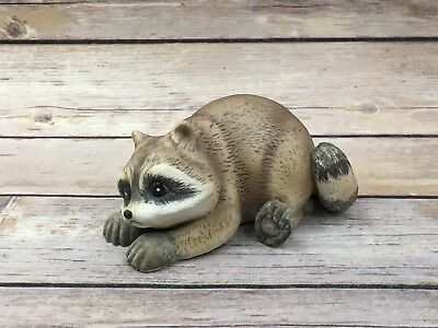 "Roger(R.J) Brown Raccoon ""Alfred"" 1978 #3698 Porcelain Bisque Mexico Signed"