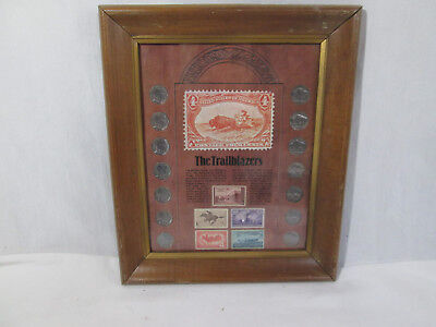 The Trailblazers Coin and Stamp Collection, Framed