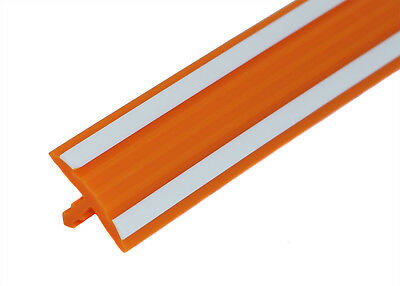 "20ft of 0.58"" Orange-White Striped T-Molding for Nichibutsu Arcade Games"