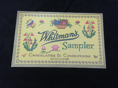 Vintage Whitman's Sampler Chocolates & Confections Cardboard Box