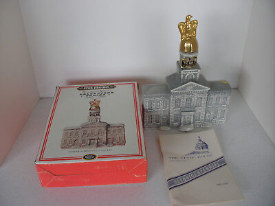 Vintage 1969 Ezra Brooks New Hampshire State House and NH  state bottle
