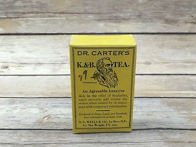 Dr. Carter's K. & B. Tea 1900's Agreeable Laxative Empty Advertising Box