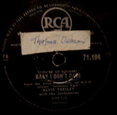 Elvis Presley 78rpm Schellack Young and Beautiful RCA 71.194 Baby I don't care