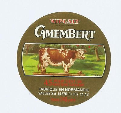 CALVADOS  ETIQUETTE CAMEMBERT  VALLEE CLECY  kiplait VACHE