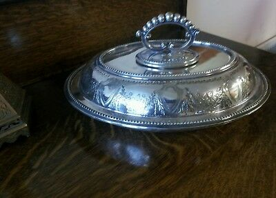 Antique Silver Plated Serving Tureen and Cover pos` 1880`90`
