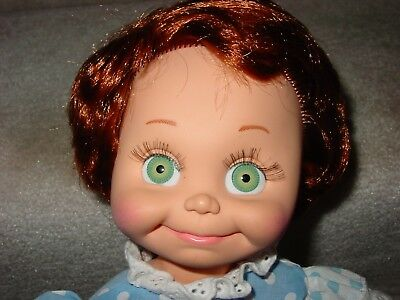 """1990 Baby Face Red Hair 13"""" Green Eyes Doll By Lgti"""