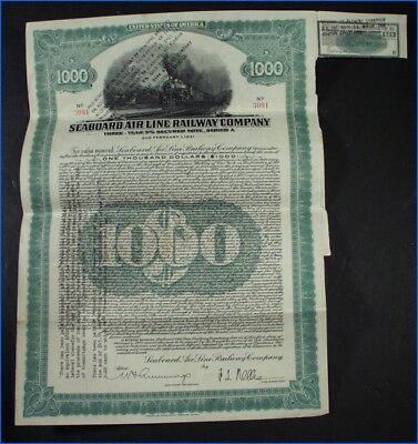 1928-1931 Seaboard Air Line Railway Three Year 5% Secured Note, Series A