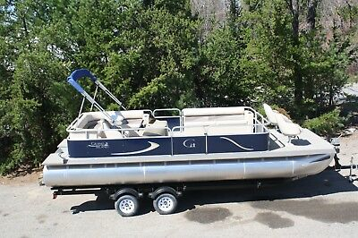 Wow Pontoon boat and 60 New--- 24 ft Rear entry cruise