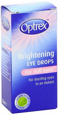 Optrex Eye Drops Brightening 10ml EXP: 2019 New Sealed Free UK Post