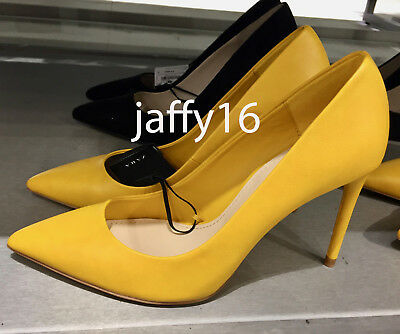 3a9739cf81b Zara New Woman Yellow High Heel Court Stiletto Pointed Shoes 35-42 Ref.1214