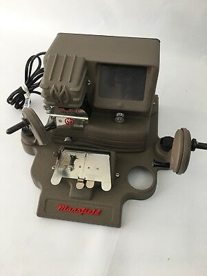 "Mansfield Deluxe ""Little Gem"" Model 950 Film Viewer And Editor For 8 & 16 mm"