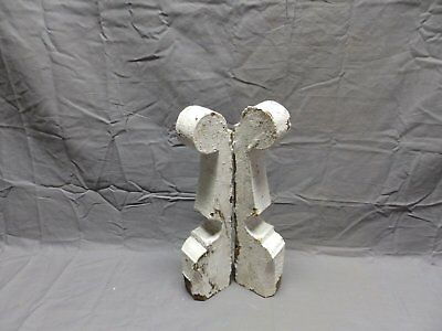 Pair Antique Corbels Gingerbread Shabby Porch Vtg Chic Small Brackets 430-18P