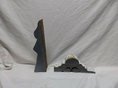 2 Pieces of Antique Corbel Gingerbread Shabby Porch Vtg Chic Small Old 431-18P