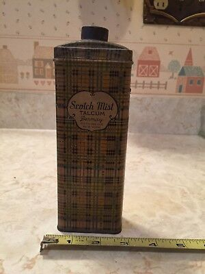 Vintage Scotch Mist TALCUM POWDER TIN Dermay Fifth Avenue New York