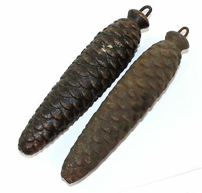 VINTAGE SET OF CUCKOO CLOCK WEIGHTS - 1022 and 1038 grams each - BR1015