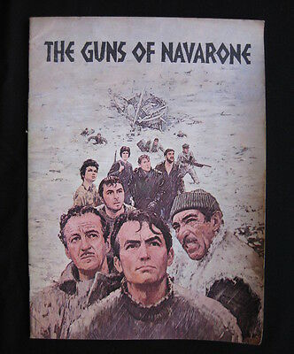 THE GUNS OF NAVARONE 1961 Orig movie programme Gregory Peck David Niven war WWII