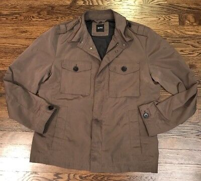 Hugo Boss Black Label Cheleste 1 Men's Military Jacket size 40R Medium  Brown