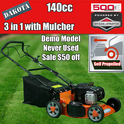 "NEW DAKOTA 18"" Lawn Mower Briggs & Stratton 500E Self Propelled Mulch Demo Sale"
