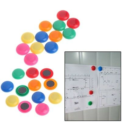 Home Decoration Circular Colorful Fridge Magnets Whiteboard Sticker Refrigerator