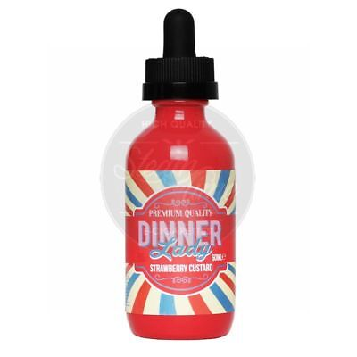 Strawberry Custard (60ml) by Dinner Lady e Liquid e Zigarette eLiquid E-Liquid