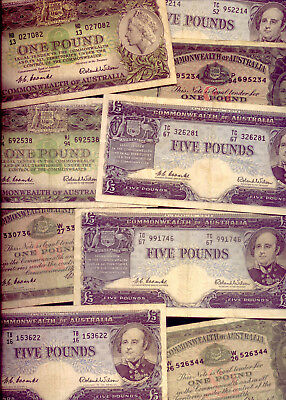 PRE-DECIMAL  BANK NOTE HOARD: 15 BANK NOTES: 1 and 5 POUND NOTES  NO RESERVE