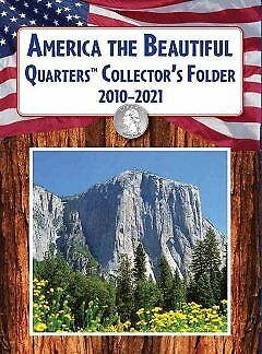 America the Beautiful Quarters Collector's Folder 2010-2021 - NEW - 978140277158