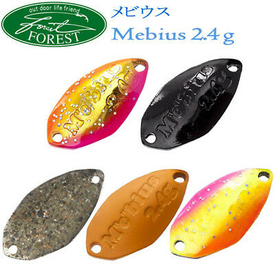 Assorted Colors FOREST MEBIUS TYPE-2 2.4 gr Trout Spoon