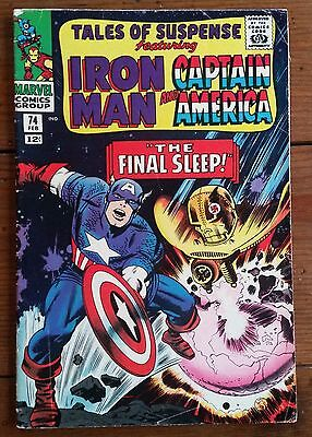 TALES OF SUSPENSE 74, featuring IRON MAN and CAPTAIN AMERICA, 1966, MARVEL, VG