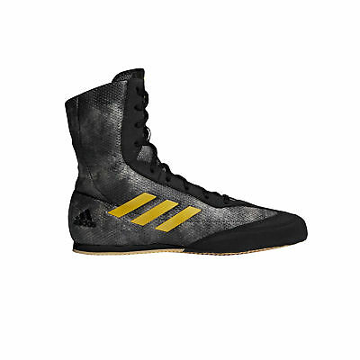 adidas Box Hog Plus Boxing Trainer Shoe Boot Black / Gold